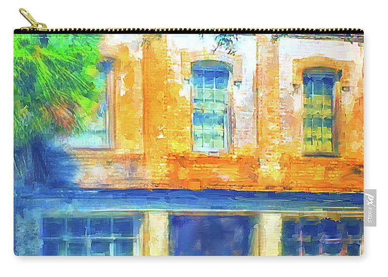 Old Carry-all Pouch featuring the digital art Micanopy Warehouse by Nancy Faircloth