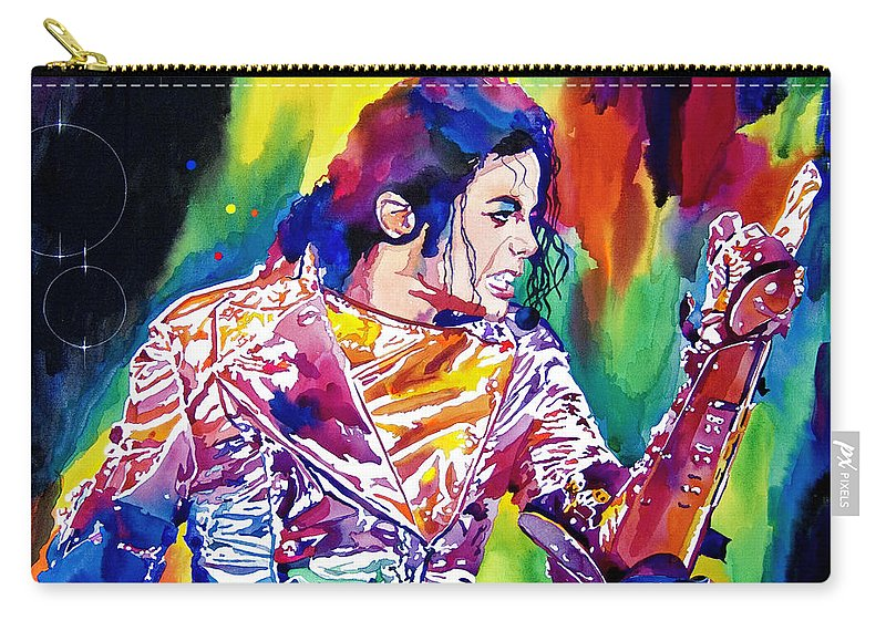 Michael Jackson Carry-all Pouch featuring the painting Michael Jackson Showstopper by David Lloyd Glover