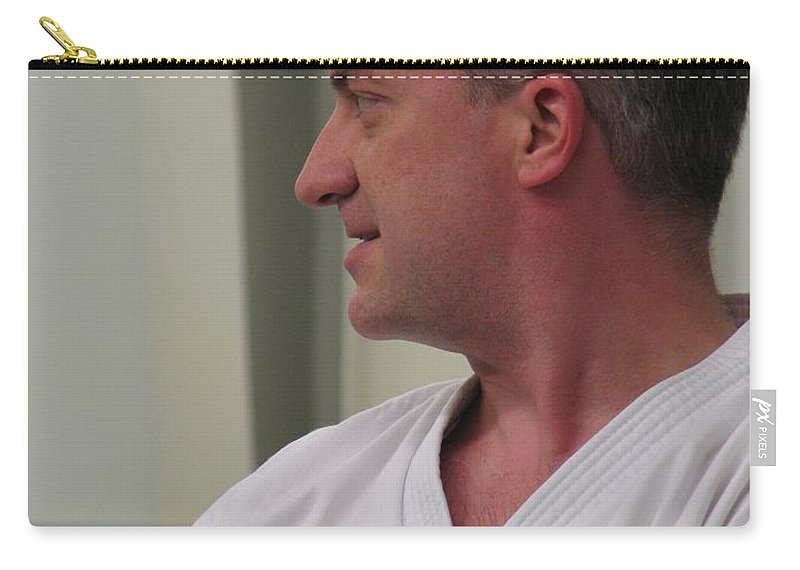 Karate Carry-all Pouch featuring the photograph Michael by Kelly Mezzapelle