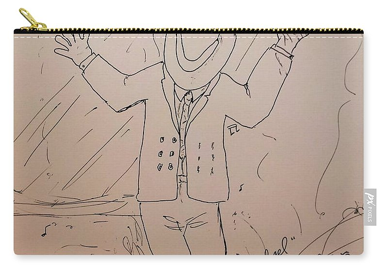 Michael Jackson Carry-all Pouch featuring the drawing Michael by N Willson-Strader