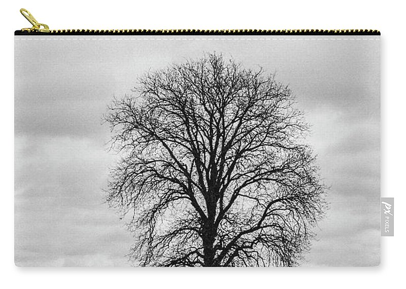 35mm Film Carry-all Pouch featuring the photograph Michigan Lonley Tree by John McGraw