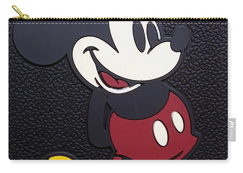 Mickey Mouse Carry-all Pouch featuring the photograph Mickey Mat by Rob Hans
