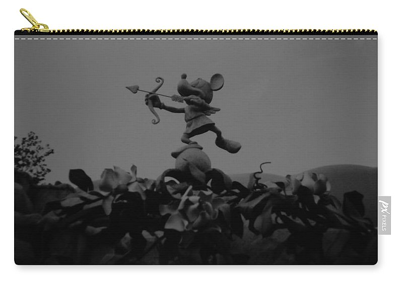 Black And White Carry-all Pouch featuring the photograph Mickey Mouse In Black And White by Rob Hans
