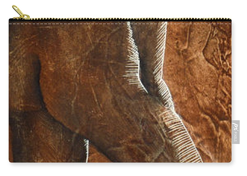 Nude Carry-all Pouch featuring the painting Mickey Xx by Richard Hoedl
