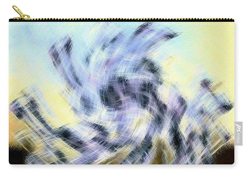 Micro Linear Carry-all Pouch featuring the digital art Micro Linear 8 by Will Borden