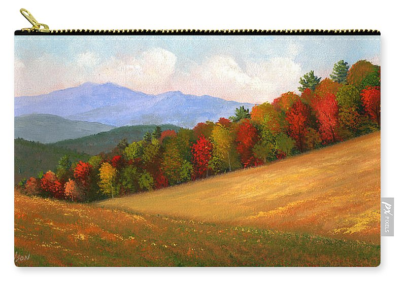 Landscape Carry-all Pouch featuring the painting Mid Autumn by Frank Wilson