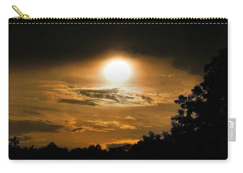 Sunset Carry-all Pouch featuring the photograph Mid-june Sunset by Kathryn Meyer
