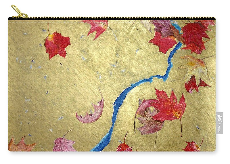 Abstract Carry-all Pouch featuring the painting Midas Fall by Steve Karol