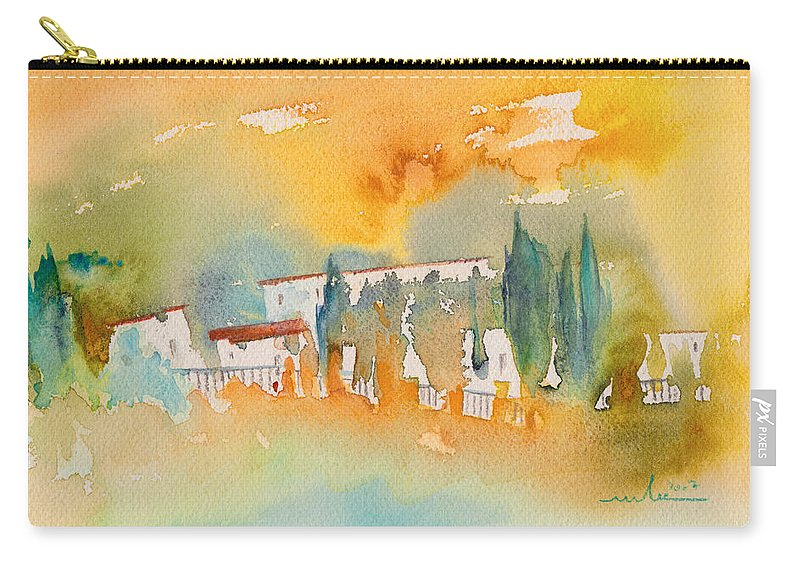 Watercolour Landscape Carry-all Pouch featuring the painting Midday 07 by Miki De Goodaboom