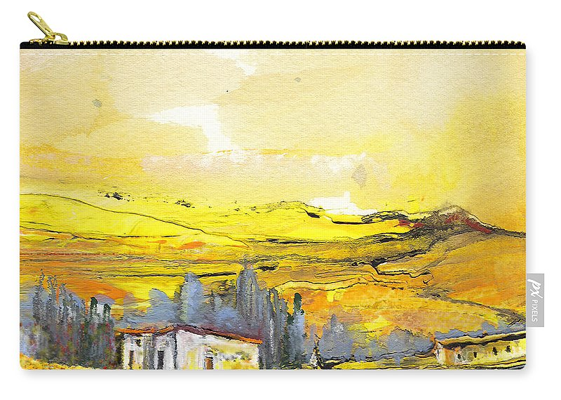 Watercolour Landscape Carry-all Pouch featuring the painting Midday 10 by Miki De Goodaboom