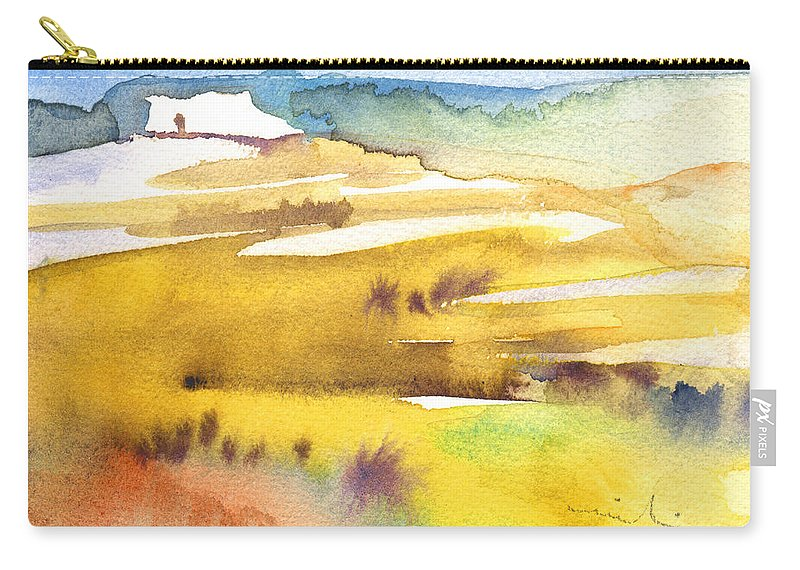 Landscapes Carry-all Pouch featuring the painting Midday 16 by Miki De Goodaboom