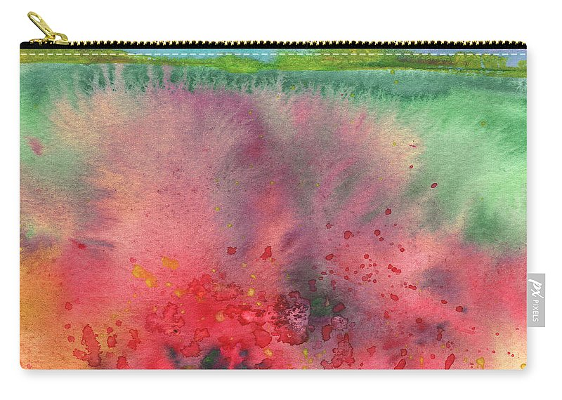 Landscapes Carry-all Pouch featuring the painting Midday 18 by Miki De Goodaboom