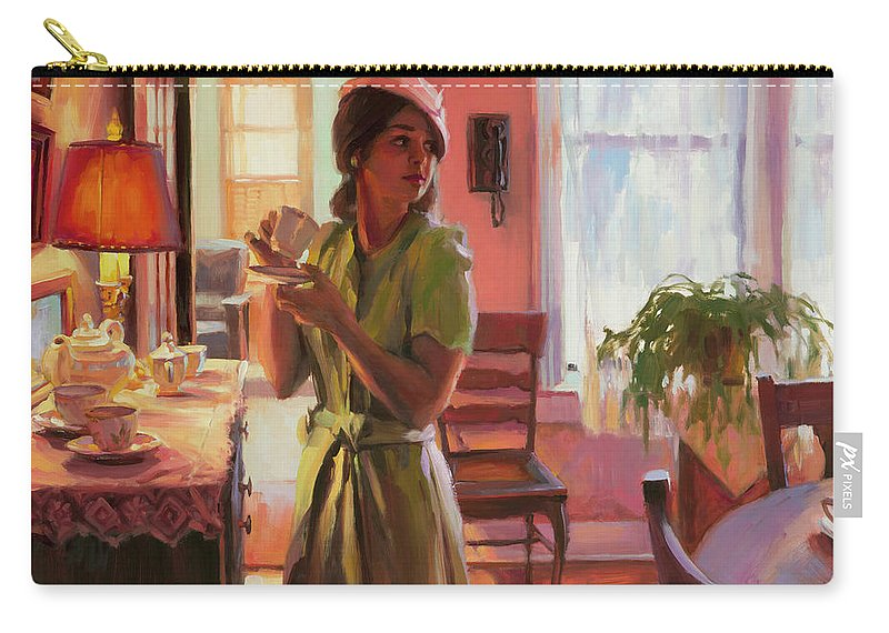Nostalgia Carry-all Pouch featuring the painting Midday Tea by Steve Henderson