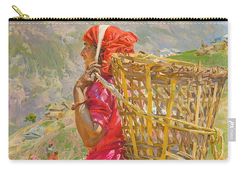 Victoria Kharchenko Carry-all Pouch featuring the painting Midday by Victoria Kharchenko