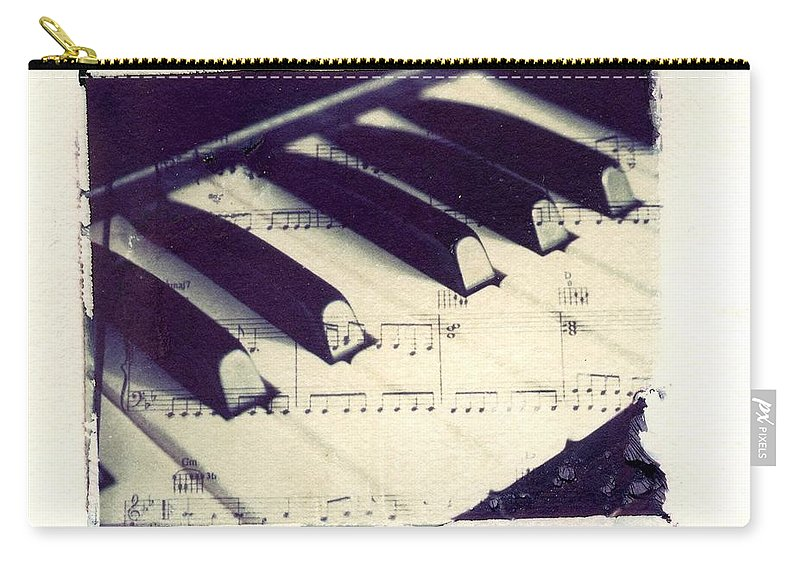 Polaroid Carry-all Pouch featuring the photograph Middle C Polaroid Transfer by Jane Linders