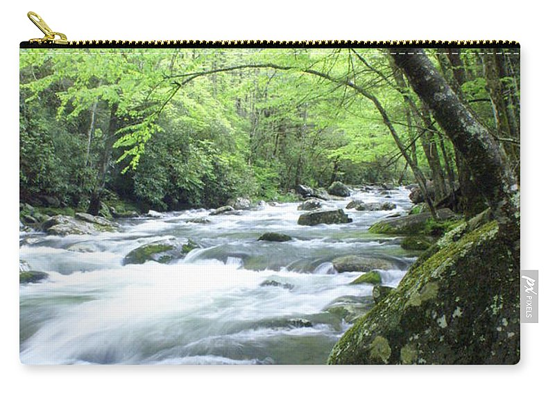 Stream Rive Carry-all Pouch featuring the photograph Middle Fork River by Marty Koch