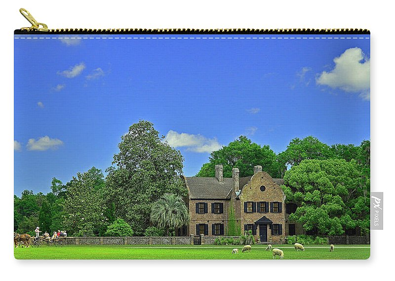 Sc Carry-all Pouch featuring the photograph Middleton Place Plantation by Allen Beatty