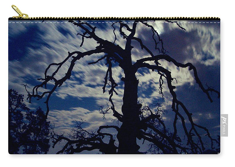 Clouds Carry-all Pouch featuring the photograph Midnight Blue by Peter Piatt