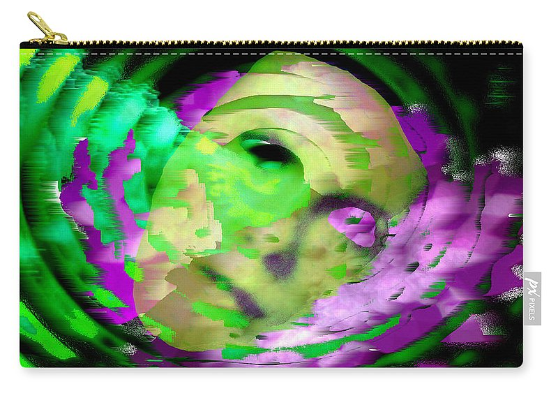 Midnight Carry-all Pouch featuring the digital art Midnight Mask by Seth Weaver