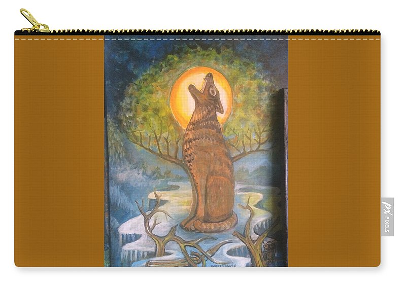 Mountain Majic Wild Life Carry-all Pouch featuring the mixed media Midnight Mountain Majic 3 by Walter M Davis