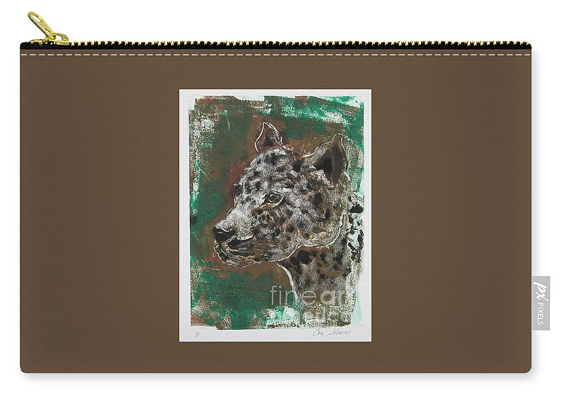 Monotype Carry-all Pouch featuring the mixed media Midnight Prowler by Cori Solomon