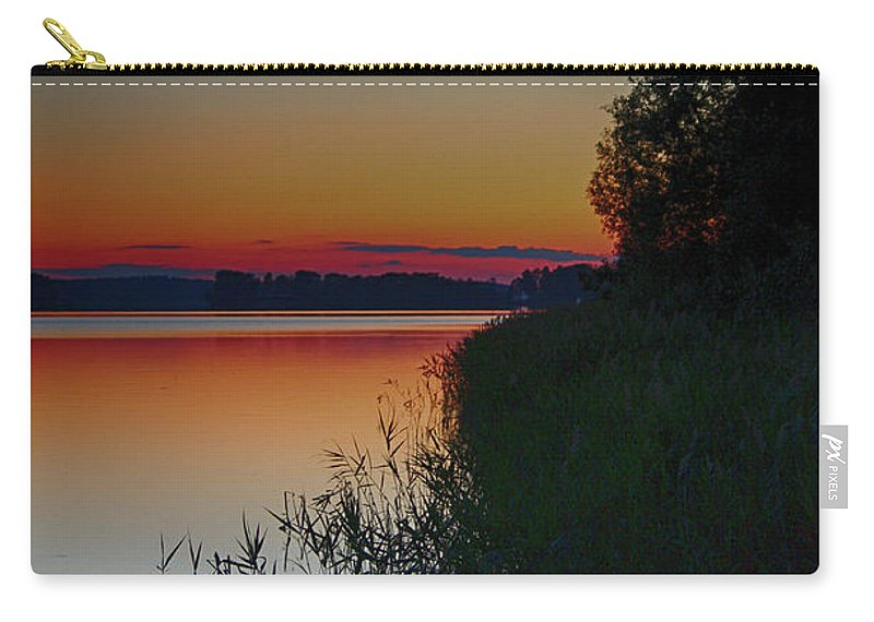 Lake Carry-all Pouch featuring the photograph Midsummer Sunset by Emma England