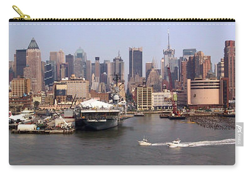 Manhattan Carry-all Pouch featuring the photograph Midtown Manhattan Panorama by Thomas Marchessault