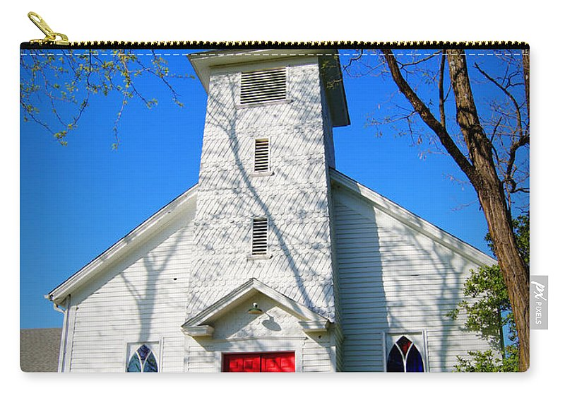 Church Carry-all Pouch featuring the photograph Midway Locust Grove Church by Cricket Hackmann