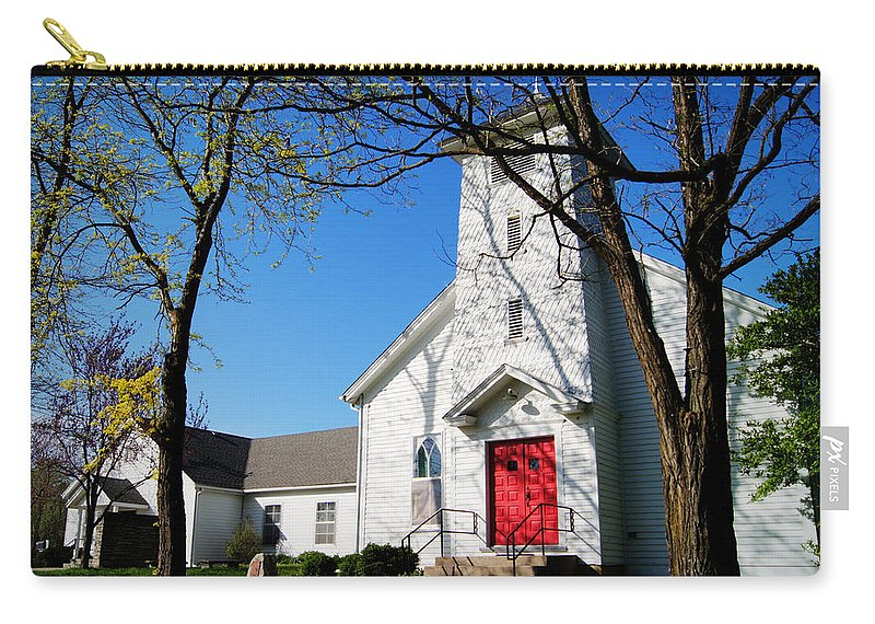 Church Carry-all Pouch featuring the photograph Midway Locust Grove United Methodist Church by Cricket Hackmann