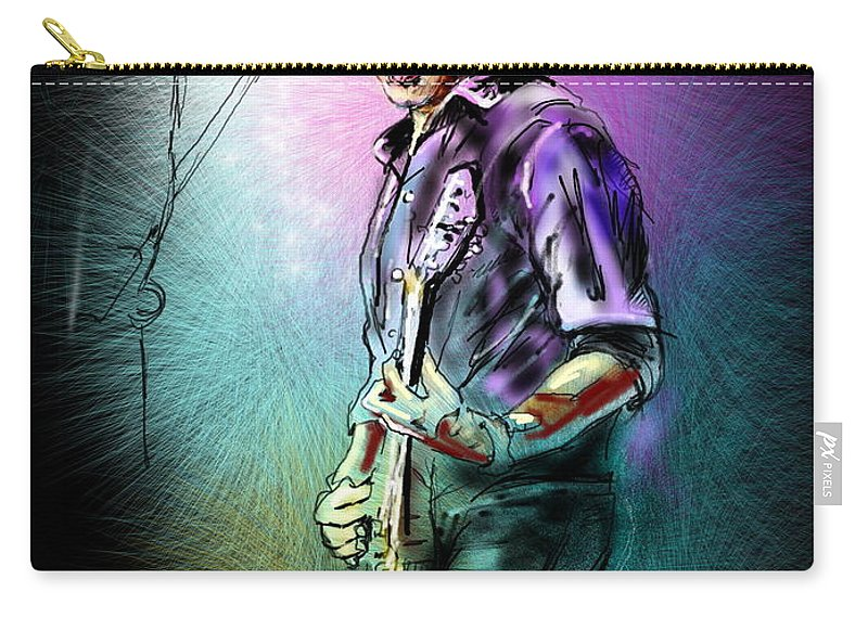 Mike Koch Portrait Carry-all Pouch featuring the digital art Mike Koch by Miki De Goodaboom