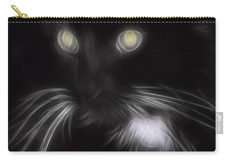 Animal Carry-all Pouch featuring the digital art Mikey by Holly Ethan
