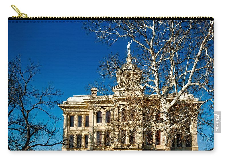 Milam County Carry-all Pouch featuring the photograph Milam County Courthouse by Mountain Dreams