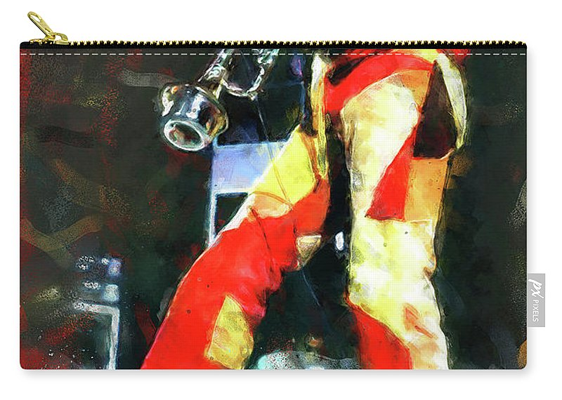 Miles Carry-all Pouch featuring the painting Miles Davis - 08 by Andrea Mazzocchetti