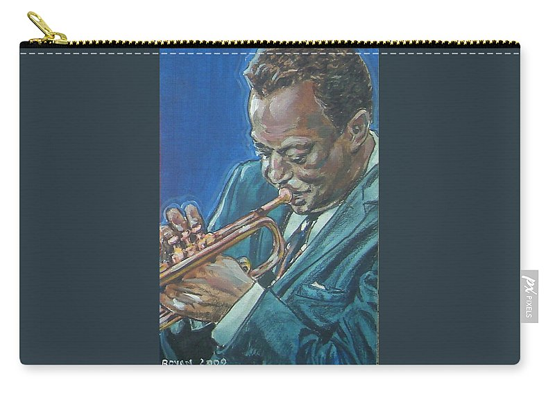 Miles Davis Carry-all Pouch featuring the painting Miles Davis by Bryan Bustard