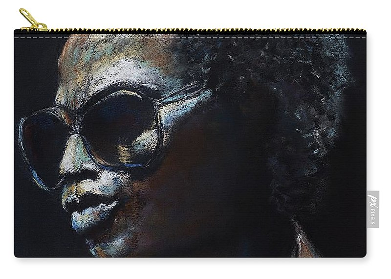 Miles Davis Carry-all Pouch featuring the painting Miles Davis by Frances Marino