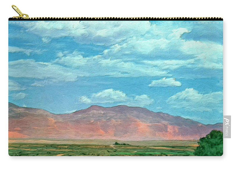 Miles Carry-all Pouch featuring the painting Miles To Go by Dominic Piperata