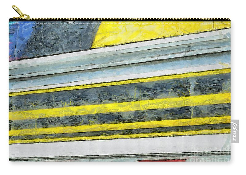 Black Carry-all Pouch featuring the photograph Miles To Go I by Paulette B Wright