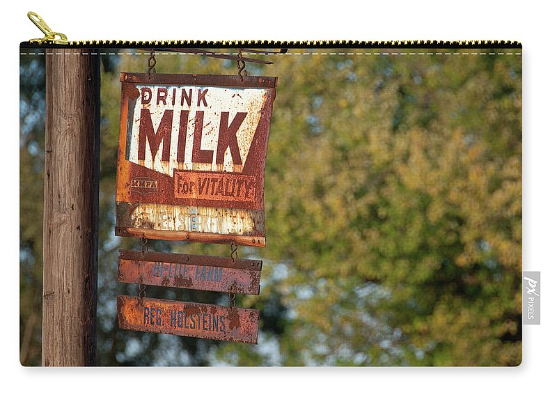 Milk Carry-all Pouch featuring the photograph Milk Sign by David Arment