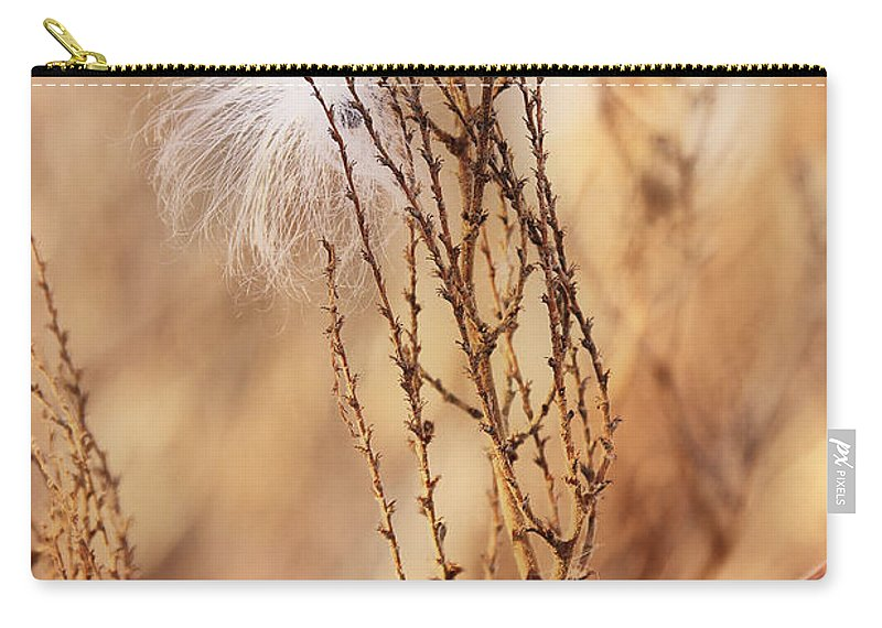 Milkweed Carry-all Pouch featuring the photograph Milkweed In The Breeze by Deborah Benoit