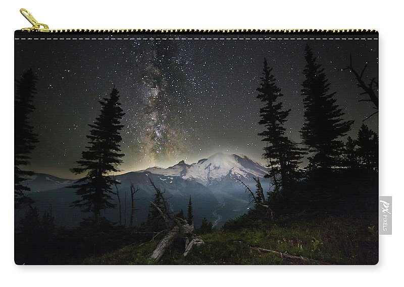 Friday Harbor Washington Carry-all Pouch featuring the photograph Milky Mountain by Thomas Ashcraft