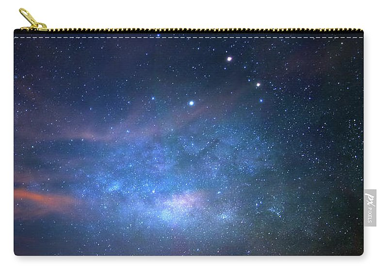 Milky Way Carry-all Pouch featuring the photograph Milky Way At 9 Mile Pond by Mark Andrew Thomas