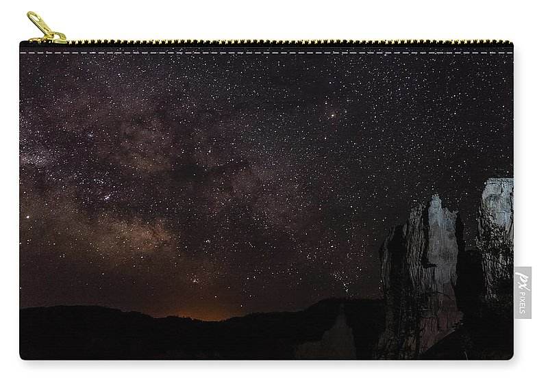 Utah Carry-all Pouch featuring the photograph Milky Way Over Navajo Loop Trail by James Marvin Phelps