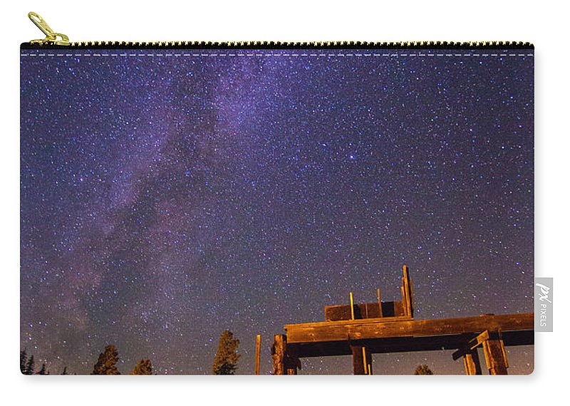 Milky Way Carry-all Pouch featuring the photograph Milky Way Over Old Corral by John R. Foster