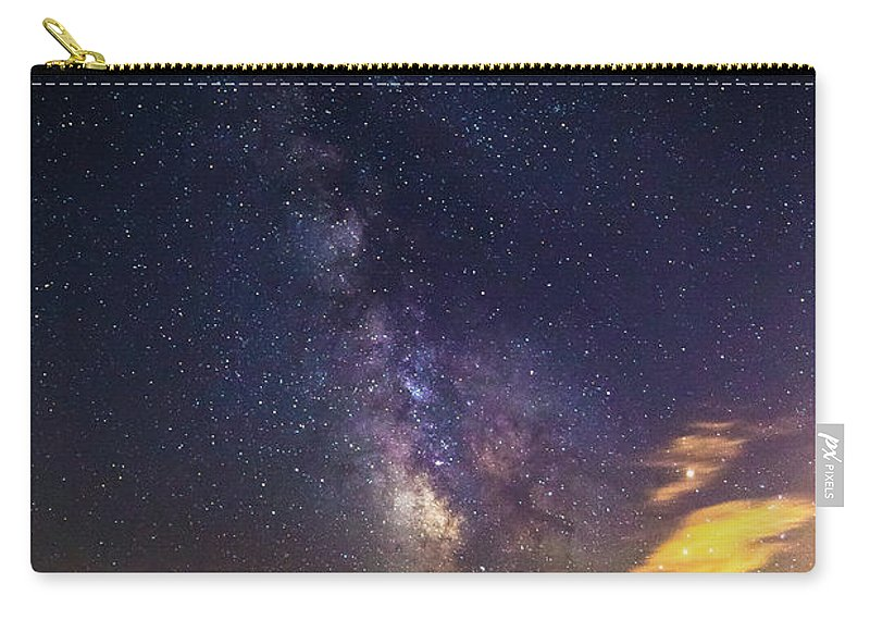 Photography Carry-all Pouch featuring the photograph Milky Way Over The Boardwalk by Justin Starr