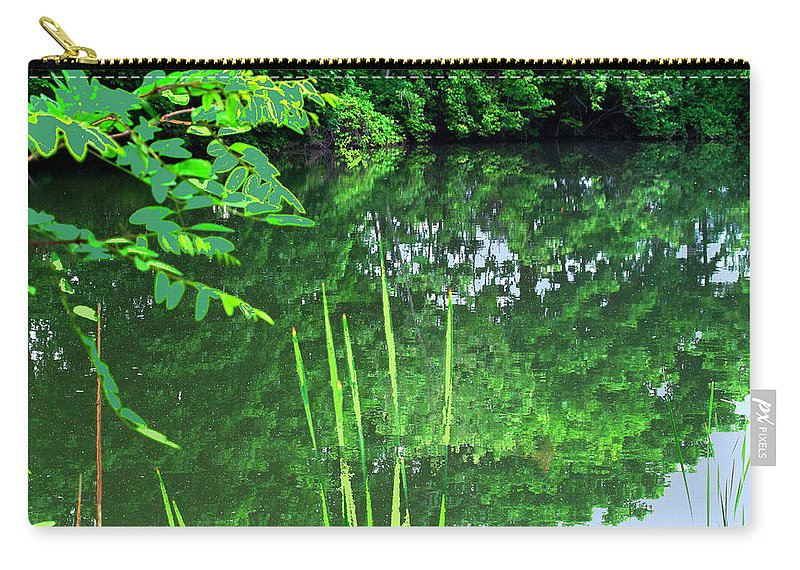 Black Creek Carry-all Pouch featuring the photograph Mill Pond Reflections by Ian MacDonald