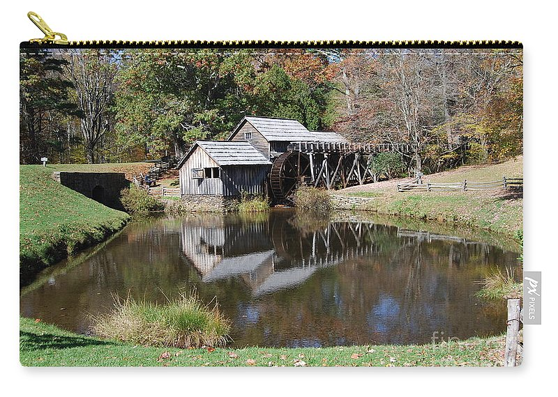 Virginia Carry-all Pouch featuring the photograph Mill Reflections by Eric Liller