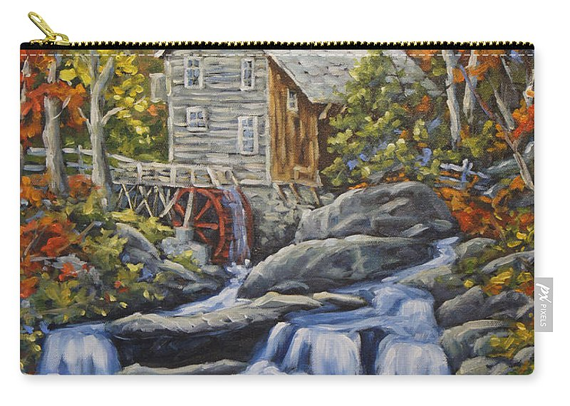 Art Carry-all Pouch featuring the painting Mill Scene 03 by Richard T Pranke