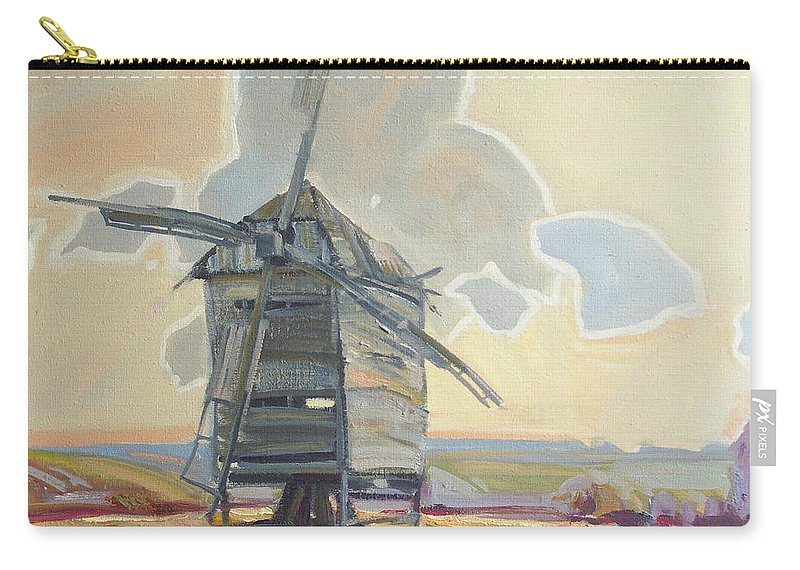 Oil Carry-all Pouch featuring the painting Mill by Sergey Ignatenko