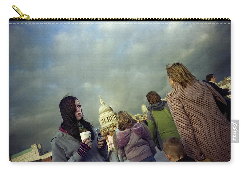 London Carry-all Pouch featuring the photograph Millenium Bridge by Rafa Rivas