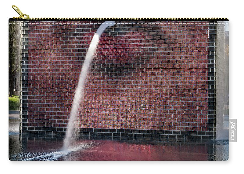 Chicago Carry-all Pouch featuring the photograph Millennium Park Fountain Chicago by Steve Gadomski